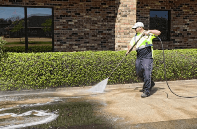 commercial concrete cleaning in baltimore